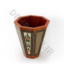 صنایع دستی - سطل خاتم کاری