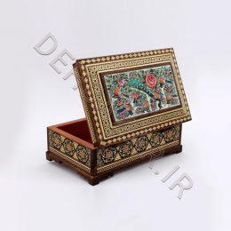 جعبه جواهر خاتمکاری صلیبی توراش