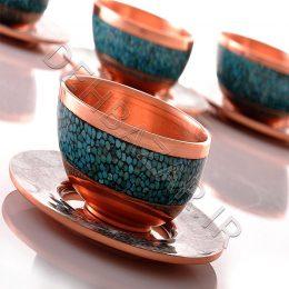 صنایع دستی - کاسه بشقاب فیروزه کوبی