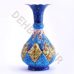 صنایع دستی - گلدان شلغمی مینا کاری