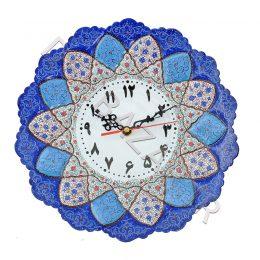 ساعت بشقاب میناکاری بزرگ