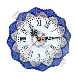 صنایع دستی - ساعت بشقاب مینا کاری کوچک