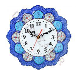 صنایع دستی - ساعت بشقاب مینا کاری