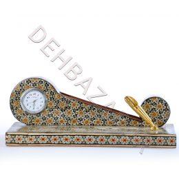 صنایع دستی -جاکارتی ساعت دار خاتم کاری