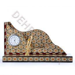 صنایع دستی - جاقلمی و جاکارتی خاتم کاری ساعت دار