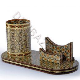 صنایع دستی - جاکارتی جاقلمی لیوان دار خاتم کاری