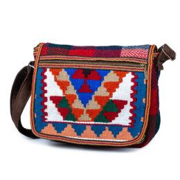 کیف رو دوشی جاجیم ارغوان