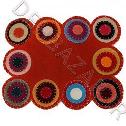 رومیزی نمدی طرح سنتی چهارگوش