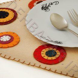 رومیزی نمدی بیضی سنتی