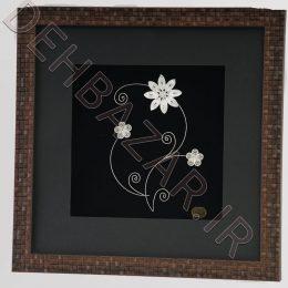 تابلو گل نقره 8 برگ