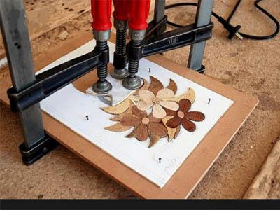 ابزار کار معرق کاری روی چوب