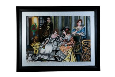 قاب نقاشی پاستیل گچی