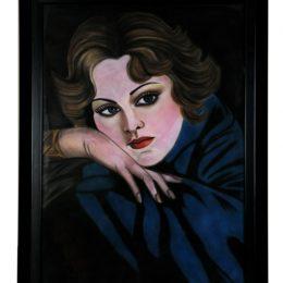 قاب نقاشی پاستیل چهره دختربچه