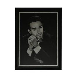 نقاشی سیاه قلم-تابلو چهره مرد