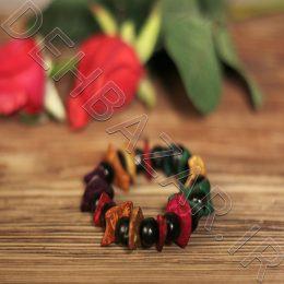 دستبند مهره چوبی سوار ملون خشبي A Bracelet