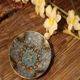 بشقاب تذهیب اصفهان لوحة التذهيب Plate Tazhib 13