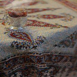 فروش رومیزی قلمکاری مفرش المائدة قلمکار Tablecloth Kalamkari 100 cm