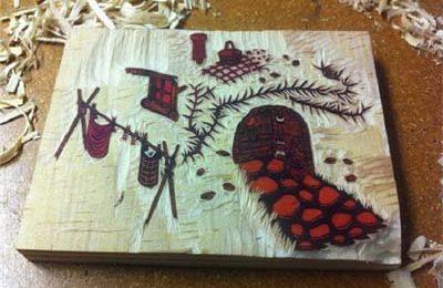 نقاشی بر چوب