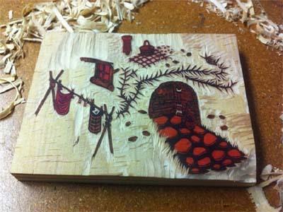 تاریخچه نقاشی بر روی چوب