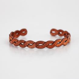 دستبند مسی طرح پیچ پهن
