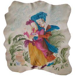 نقاشی روی چرم (بارنگهای جوهری)