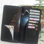 ست کیف پولی چرم طبیعی همراه با سرکلیدی و دستبند
