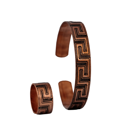 ست دستبند و انگشتر مسی مدل s1-203