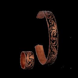 ست دستبند و انگشتر مسی مدل s4-203