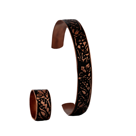 ست دستبند و انگشتر مسی مدل s5-203