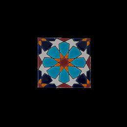 کاشی هفت رنگ اسلیمی آبی