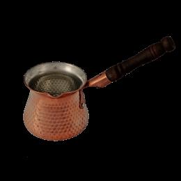 قهوه جوش مسی دسته چوبی