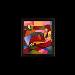 تابلو نقاشی ویترای طرح انسان