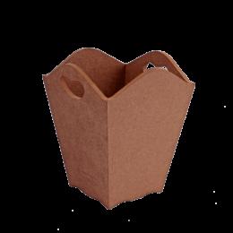 ظرف خام چوبی سطل زباله