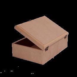 ظرف خام چوبی جعبه متوسط