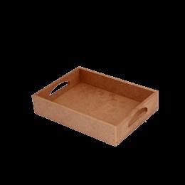 ظرف خام چوبی سینی لبه دار ساده