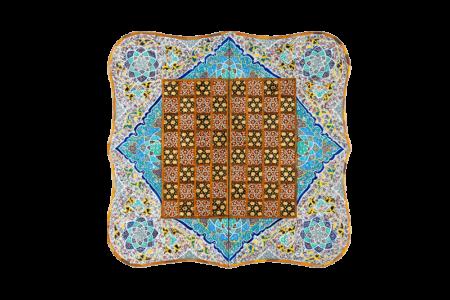 صفحه شطرنج و تخته نرد خاتم طرح ترنج